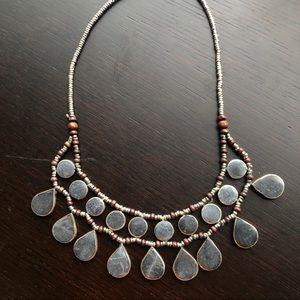 Afghan Dark Gray Lapis Necklace